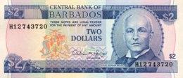 Barbados 2 Dollars, P-42 (1993) - UNC - Barbados (Barbuda)