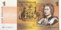 Australia 1 Dollar, P-42d (1983) - UNC - 1974-94 Australia Reserve Bank (paper Notes)