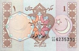 Pakistan 1 Rupee, P-27h (1983) - UNC - Signature 6 - Pakistan