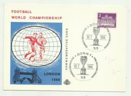 FOOTBALL WORLD CHAMPIONSHIP LONDON 1966, COMMEMORATIVE CARD FG - Soccer