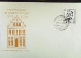 """DDR: FDC """"Thomas Mann"""" Mit Ortsst. Freienhufen über Großräschen Vom 13.8.56 Knr: 534 - DDR"""