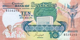 Seychelles 10 Rupees, P-32 (1989) - UNC - Seychelles