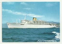 NAVE ENRICO COSTA CARTOLINA DI BORDO CABO DE HORNOS 1974 FG - Barche