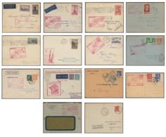 Poste Aérienne Aéropostale 1936/1939, Lot De 1er Vols 1ère Liaisons S/lettres - Poste Aérienne