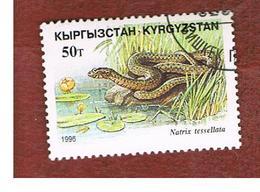 KYRGYZSTAN   - SG 109   -  1996  REPTILES: NATRIX TESSALLATA   -   USED - Kirghizstan
