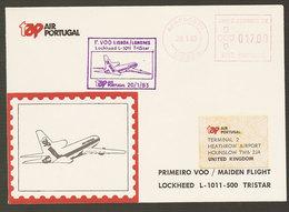 Portugal Premier Vol TAP Lockheed TriStar Lisbonne Londres Royaume Uni 1983 First Flight Lisbon Londres United Kingdom - Poste Aérienne
