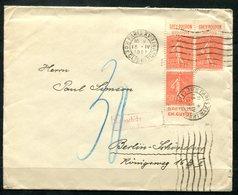 4678 - FRANKREICH - Brief Mit 3mal Mi.Nr. 161 - Mit 3 Versch. Reklamen (aus MH) - Nachgebühr - Advertising