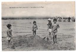 SAINT-AUBIN SUR MER - Les Enfants Sur La Plage (jeux De Plage) - Saint Aubin