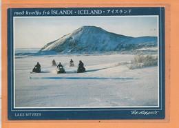 CPM - LAKE MYVATN - Med Kvedju Fra Islandi Iceland - Moto Neige - Iceland