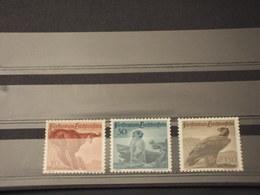 LIECHTENSTEIN - 1947 FAUNA 3 VALORI(bruttini)  - NUOVI(+/++) - Nuovi