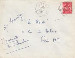 POSTE AIR. LETTRE . CACHET PERLÉ HEXAGONAL. LE BOURGET SEINE /  2 - Poststempel (Briefe)