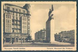 Poland Polska WARSZAWA Pomnik Lotnikow Monument Des Aviateurs - Pologne