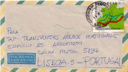 Postal History Cover: Brazil Stamp On Cover - Geography