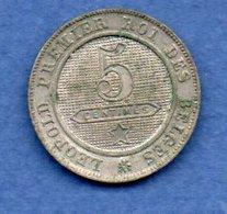 Belgique  -  5 Centimes 1861 -  Km # 21  - état  SUP  -  Rare En L état - 03. 5 Céntimos