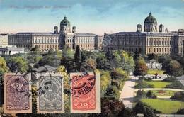 Cartolina Vienna Wien Volksgarten Hofmuseen 1920 Illustrata - Cartoline