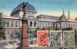 Cartolina Vienna Wien Universtat Und Liebenberg Denkmal 1920 Illustrata - Cartoline