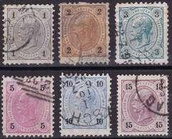 Autriche YT 46-47-48-49-50-52 Année 1890 - François-Joseph 1er (Used °) - Usados