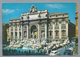 IT. ROMA. ROME. Fontana Di Trevi. La Fontaine De Trevi. The Fontain Of Trevi. Der Brunnen Von Trevi. Old Cars. - Fontana Di Trevi