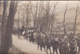 [34] Hérault > Lamalou Les Bains Carte Photo Obsèques Militaires Sur La Route Du Cimetière RARE RECHERCHE N° 3 - Lamalou Les Bains