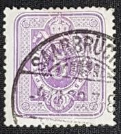 Allemagne Empire Reich 5 Pfennig N.40 .Oblitération Saarbruck - Allemagne