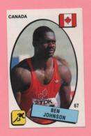 Figurina Supersport 1988 N° 67 - Velocista, Ben Johnson - Atletica