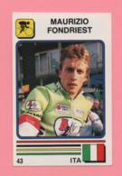 Figurina Supersport 1988 N° 43 - Ciclismo, Maurizio Fondriest - Ciclismo