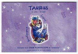 Australia 2008 Prestige Booklet Zodiac Taurus Sterrenbeeld Stier - Astrology