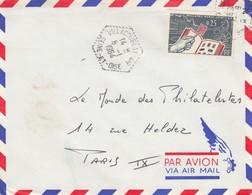 POSTE AIR. LETTRE . CACHET PERLÉ HEXAGONAL. VILLACOUBLAY AIR SEINE ET OISE  /  2 - Poststempel (Briefe)