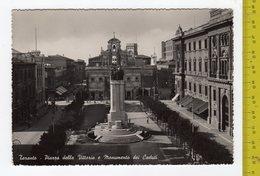 1956 TARANTO Piazza Della Vittoria E Monumento Ai Caduti FG V SEE 2 SCANS Animata- GRANDE BIRRERIA - Taranto