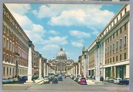 IT. ROMA. ROME. Via Della Cobcilliazione E S. Pietro. Reconcilliation Street And St. Peter. Old Cars. - Roma (Rome)