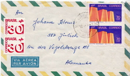 Postal History Cover: Brazil Stamps On Cover - Factories & Industries