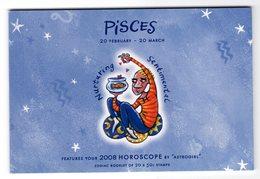 Australia 2008 Prestige Booklet Zodiac Pisces Sterrenbeeld Vissen Fish - Astrology