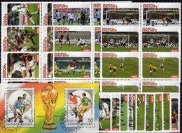 Team 1989 BULGARIEN Block 208+AFRICA 9 Stamp 50-1000 Franc+VB ** 52€ Fußball Ss Football M/s Blocs/sheets Bf Soccer - Coupe Du Monde