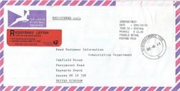 South Africa RSA 2001 Somerset West Counter 6 Meter PO3.1 Olivetti ATM EMA FRAMA Registered Cover - Frankeervignetten (Frama)