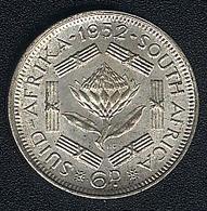 Südafrika, 6 Pence 1952, UNC - South Africa