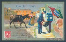 Portugal Chromo Cocolat Klaus Postes Universelles - Vieux Papiers