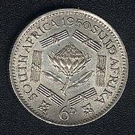 Südafrika, 6 Pence 1950, UNC - South Africa