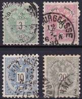 Autriche YT 41-42-43-44 Année 1883 (Used °) - Usados