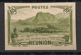 Réunion - 1933 - N°Yv. 137a - 65c Olive - Variété - Non Dentelé / Imperf. - Neuf Luxe ** / MNH / Postfrisch - Réunion (1852-1975)