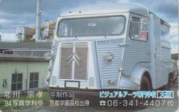 Télécarte Japon / 110-011 - VOITURE FRANCE - CAMION CITROEN - TRUCK Japan Phonecard - LKW - 3300 - Voitures