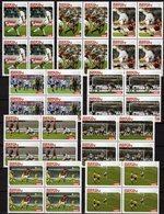 Fußball-WM 2004 Afrika 9 Werte Je Im 4-Block ** 60€ Championat FIFA Blocs Set Voetball M/s Soccer Sheets Bf Football - Bénin – Dahomey (1960-...)