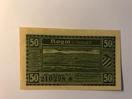 Allemagne Notgeld Hoyn 50 Pfennig - [ 3] 1918-1933 : République De Weimar