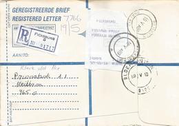 South Africa RSA 1989 Ficksburg Heilbron Bloemfontein Meter PO3.1 Olivetti ATM EMA FRAMA Registered Cover - Frankeervignetten (Frama)