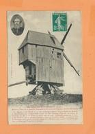 CPA  - Bruyères Et Montbérault -(Aisne) - Moulin à Vent De La Famille Houssaye Et Portrait De L'écrivain Arsène Houssaye - Altri Comuni