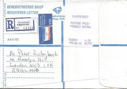 South Africa RSA 1994 Kloofstreet Cape Town Meter PO3.1 Olivetti ATM EMA FRAMA Registered Cover - Frankeervignetten (Frama)