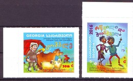 Georgie Georgia 2016 Fairy Tale Character Complete Set 2 Stamps Série Complète 2 Timbres MNH** - Géorgie