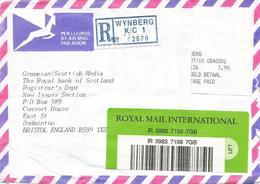 South Africa RSA 1998 Wijnberg Meter PO3.1 Olivetti ATM EMA FRAMA Registered Cover - Frankeervignetten (Frama)