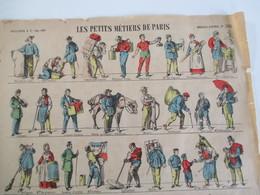 Grande Planche Images D'épinal Les Petits Metiers De Paris . Numero 280. Editeur Pellerin - Old Paper