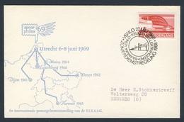 Nederland Netherlands Pays Bas 1968 Cover Brief - SPOORPHILEX 69 - 6e Int. Postzegeltentoonstelling  FISAIC, Utrecht - Treinen