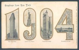 NY NEW YORK Greetings 1904 - Unclassified
